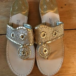 5d5d2ff31 Jack Rogers Shoes - Sparkly Gold Navajo Jack Rogers thongs